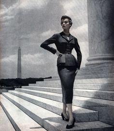 Julius Garfinckel & Co 1953 - photo by Toni Frissell Jean Patchett wearing…