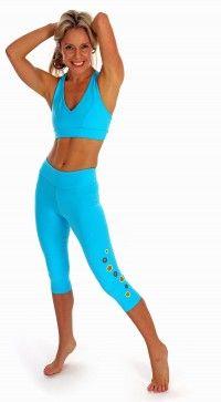 Margarita Halo Leggings in Turquoise | Daisy Fitness Wear