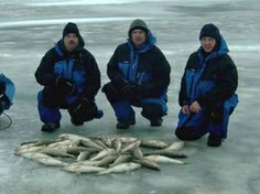 Ice fishing on Lake Erie