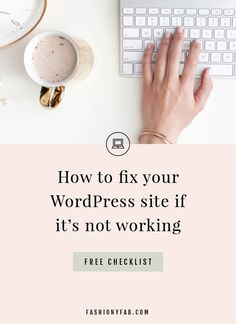 Wordpress Problems: Fix Your Site if it's Not Working - Fashiony Fab Learn Wordpress, Wordpress Plugins, Business Tips, Business Entrepreneur, Online Business, Twitter Tips, Wordpress Website Design, Web Design Inspiration, Fix You