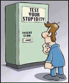 Test your intelligence: insert $100.