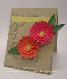 137 best card ideasusing paper flowers images on pinterest paper paper flowers using daisy 2 die retired card by heidi baks mightylinksfo