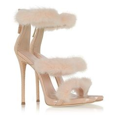 Giuseppe Zanotti Shoes Blush Patent and Croco Embossed Leather High... ($1,195) ❤ liked on Polyvore featuring shoes, sandals, heeled sandals, pink sandals, strappy heeled sandals, pink heeled sandals and strap heel sandals