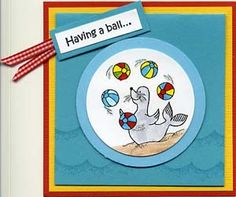 Having a Ball Card & DIY Directions from GreatImpressionsStamps.com