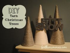 DIY Yarn Trees - awesome idea for the Christmas holiday!!! And also submitted by a dear friend of mine @Stevie Tsambiras - check out her Pinterest profile for more great ideas!!!!