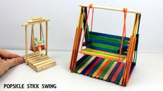 2 Easy Miniature Playground Swings #9 | Popsicle Stick Crafts for Kids