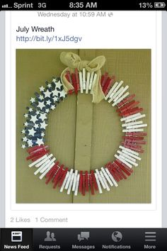 Cool 4th of July wreath!