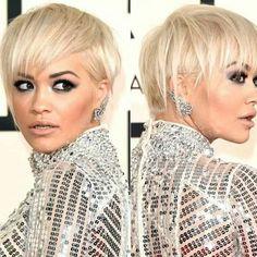 Rita Ora rocks a piecey pixie... Grammy's 2015