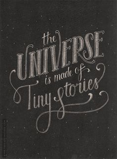 The universe is made of tiny stories. High Intimacy value talking. #VoiceValues | commentary via The Voice Bureau at AbbyKerr.com