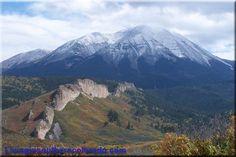 Spanish Peaks from between Cuchara and La Veta Colorado