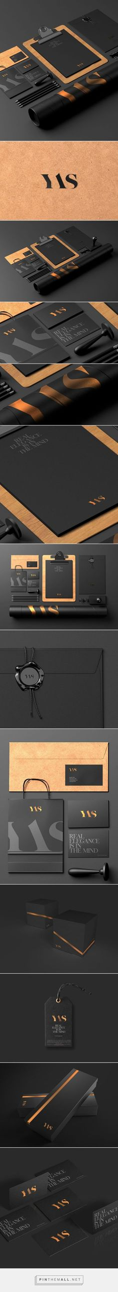 YAS - accessories for men on Behance by Sebastian Bednarek curated by Packaging Diva PD. This is gorgeous identity packaging branding. Design Corporativo, Logo Design, Brand Identity Design, Graphic Design Branding, Creative Design, Brand Design, Corporate Design, Corporate Identity, Visual Identity