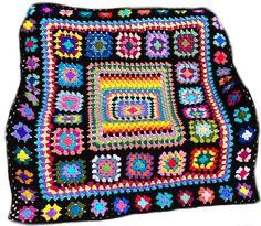 Crochet blanket crochet afghan granny by CrochetKaleidoscope