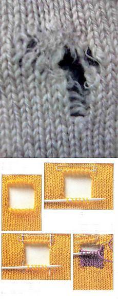 Реставрация вязаного полотна | Варварушка-Рукодельница