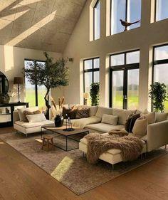 Home Living Room, Living Room Designs, Living Room Decor, Interior Design Living Room, Loft Interiors, Dream Home Design, Modern Interior Design, Home Furnishings, Family Room