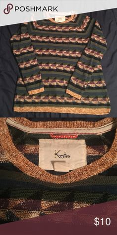 "Urban outfitters Koto sweater M Koto by Urban Outfitters. Sweater in great condition size M 22"" wide and 27"" long Urban Outfitters Sweaters Crewneck"
