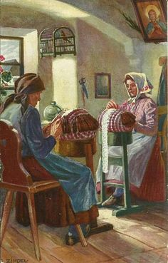 Encajeras- bobbin lace makers