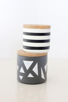 DIY Simple Geometric Treat Jars - Delia Creates