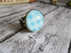 Ring Handmade Ring Glascabochon Ring 20mm Ring by LaurusStyle, $7.00