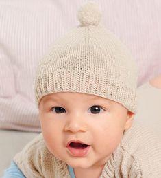 Шапочка с помпоном для младенцев
