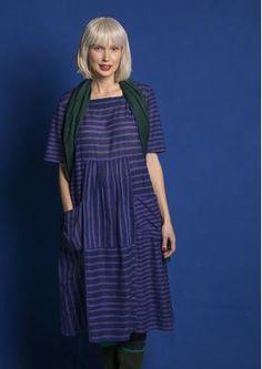 Gestreiftes/einfarbiges Kleid aus Öko-Baumwolle 75704_75704-52.tif
