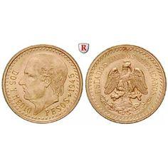 Mexiko, Vereinigte Staaten, 2 1/2 Pesos 1945, 1,87 g fein, bfr.: Vereinigte Staaten seit 1905. 2 1/2 Pesos 1,54 mm 1,87 g fein,… #coins