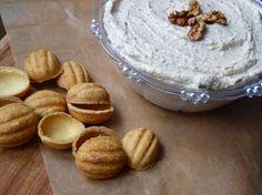 Kuchnia pachnąca wanilią : KREM ORZECHOWY Dessert Recipes, Desserts, Camembert Cheese, Dairy, Cookies, Baking, Polish, Food, Tailgate Desserts