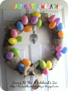 Easter Wreath #holidaycrafts