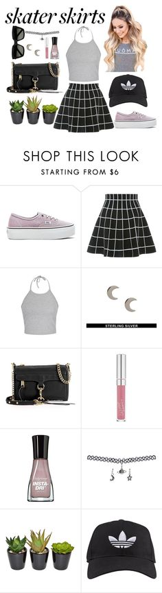 """""""rad"""" by kems2020 ❤ liked on Polyvore featuring Vans, Ally Fashion, Fashionology, Rebecca Minkoff, Sally Hansen, Wet Seal, adidas and Yves Saint Laurent"""