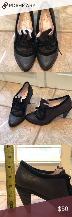 Plenty by Tracy Reese from Anthropologie booties Grey and black laced booties size 37. Leather upper and leather sole. EUC. Plenty by Tracy Reese Shoes Ankle Boots & Booties