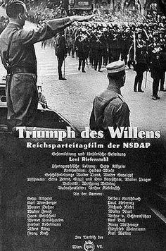 Triumph of the Will or Triumph des Willens (in German) is a political movie made during the early years of the Third Reich. The movie was released in 1935 and was produced by Leni Riefenstahl and Adolf Hitler himself. The film is designed to portray the militaristic and disciplined spirit of Germany and the Hitler Youth and does say with rallies with the Wehrmacht.  Triumph of the Will represents an overview of the NSDAP's struggle to gain power and to maintain it.