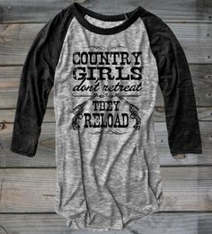 Juniors Country Girl ® Reload Burnout Baseball Tee  #CountryGirl #WinterWear #CountryBoys