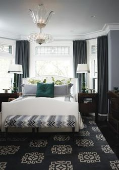 georgianadesign:    Master bedroom in designer Tommy Smythe's Toronto town home.