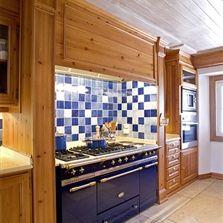 English Kitchen Patchwork Blue White Azulejos
