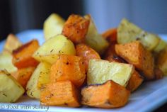 Roasted Mix Potato's with Herb Butter Sauce