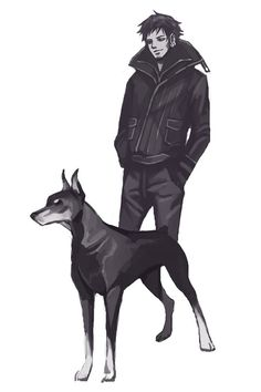 """""""hazelisque: """"If the Strawhats live in our neighborhood and they're walking their dogs! So for the past couple of days I've been having fun drawing the crew with some dogs which, in my. Japanese Drawings, The Pirate King, Fanart, One Piece Pictures, Trafalgar Law, Animal Books, Doberman Pinscher, Dog Art, Anime Manga"""