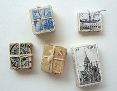 Angela Liguori This gave me an idea! glue recycled stamps to magnet sheets-cut out and use on the fridge Paper Art, Paper Crafts, Diy Paper, Postage Stamp Art, Going Postal, Vintage Stamps, Art Graphique, Letter Writing, Mail Art