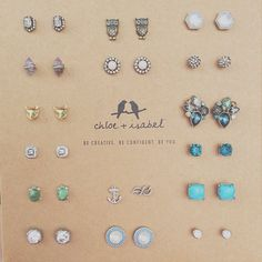 There's no such thing as having too many studs! Just ask Kristin! #pickyourpair #earcandi #chloeandisabel