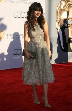 zooey deschanel celebrity style: Zooey Deschanel in a dress
