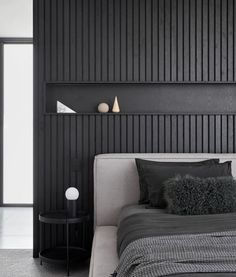 Best Home Decoration Ideas Black Headboard, Bed Frame And Headboard, Bed Wall, Headboards For Beds, Feature Wall Bedroom, Bedroom Wall, Bedroom Decor, Bedroom Inspo, Bedroom Ideas