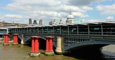 What Are The Red Pillars Next To Blackfriars Bridge? | Londonist