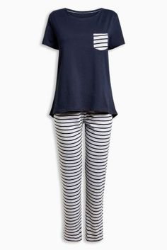 bd591a90241bc Next £14 size large (non maternity) - Navy and grey Stripe Cotton Jersey