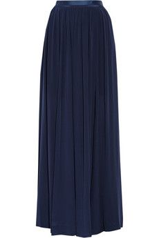 """By Malene Birger Severa pleated silk crepe de chine maxi skirt 