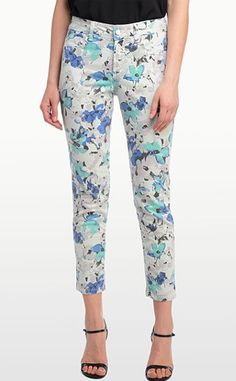 NYDJ (not your daughters jeans) skinny jean in a floral print...must have for spring! Available at #earabstracts #boutique 714-996-3505 We ship!