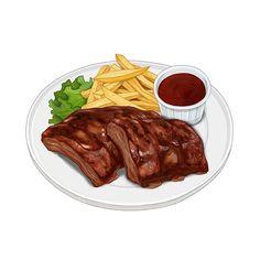 Food Png, A Food, Food And Drink, Desserts Drawing, Cute Food Art, Food Sketch, Food Cartoon, Watercolor Food, Food Wallpaper