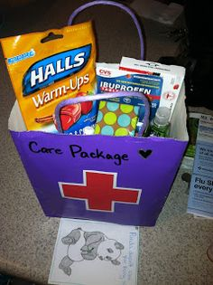 Care Package for the sick husband :)