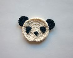 PDF Crochet Pattern  Panda Applique  with by oneandtwocompany, $2.99