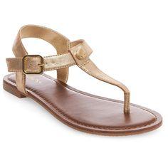 Women's Marissa Thong Sandals - Gold 6.5