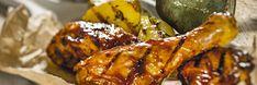 BBQ csirkecombok grillezett burgonyatallérokkal Chicken Wings, Bbq, Meat, Food, Barbecue, Barrel Smoker, Essen, Meals, Yemek