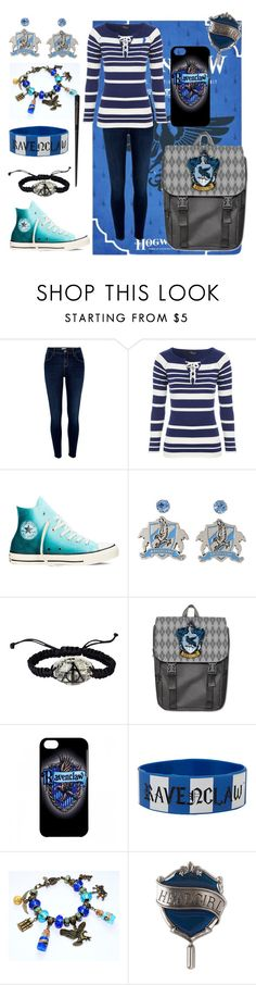 """""""Ravenclaw: Lazy Day."""" by the-uninportant-emo ❤ liked on Polyvore featuring River Island, Jane Norman, Converse, harrypotter and ravenclaw"""