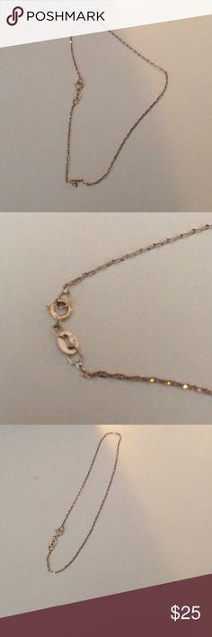 Anklet 14kt gold 14kt gold anklet ... never worn Jewelry